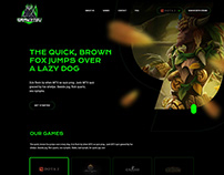 Gamejitsu homepage design