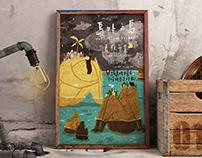 島外之島夏夜市集視覺海報設計 | Poster design