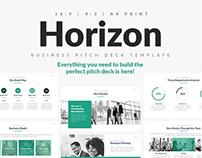 Horizon Business Pitch Deck PowerPoint Template