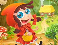 """Red Ridding Hood"" Poster"
