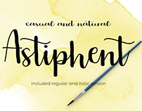 Astiphent . a fresh design by tertiatype