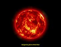 Awesome Red Sun With Effect