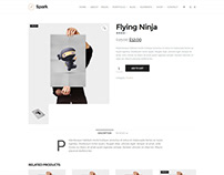 Spark WordPress Theme - Store Single Product Page