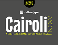Cairoli NOW - Super Family Revival with 3 FREE FONTS