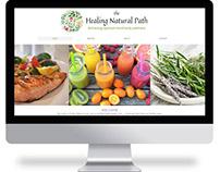 the Healing Natural Path branding - website design