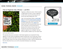 One Thing New Blog Design