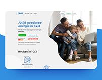 Belgium Cheap Energy service landing page
