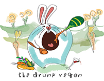 the Bunny who's Drunk and Vegan