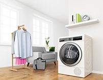 Bosch 3D Key visual - Clothes dryer for Business