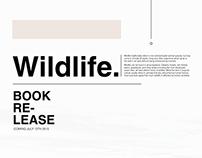 Wildlife book release poster
