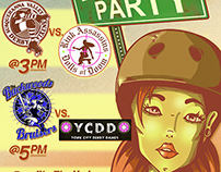 Roller Derby Bout Poster (Block Party)