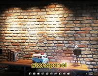 Ladrillo Ahşap Görünümlü Duvar Kaplama Paneli