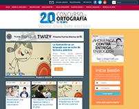 20º Concurso de Ortografía El Tiempo - diseño web