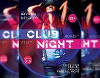 Club Night Party Flyer - Club A5 Template