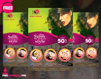 Beauty Salon Flyer Free PSD