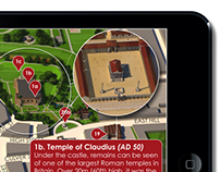Historic Colchester iPad based infographic