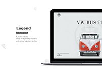 Promo website VW BUS T1