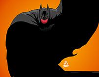 Batman minimalist Comics poster