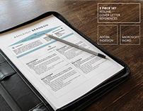 Modern Resume Template | Microsoft Word + InDesign