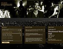 Sean Douglas – Website & Album Cover