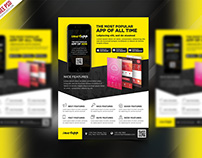 Free PSD : Mobile App Promotion Flyer Template PSD