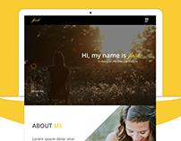 CV Resume Website Design.