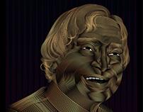 Dr. A.P.J. Abdul Kalam's portrait