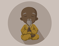 Monk and Farmer Icons