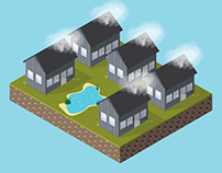 Finnish Wooden House (Isometric & Vector)
