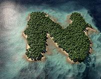 3D Rendering of Fictional Nicaraguan 'Isleta' #366