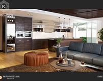 Livingroom  Penthouse by K-Render Studio (P1)