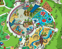 Centennial Center Park Map Illustration