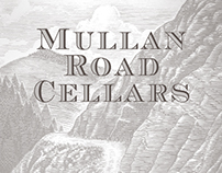 Mullan Road Cellars Label Illustrated by Steven Noble