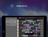Radiantarray App Web Landing page design
