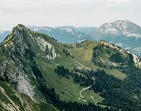 Montagne du Charbon, massif des Bauges, France