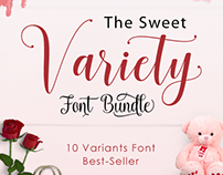 The Sweet Variety Font Bundle