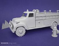 Tonka Firetruck model and render