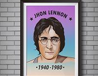 Ilustración Jhon Lennon