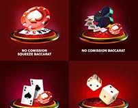 Casino game icons
