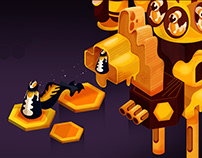 Hive Empire iOS/Android game design 2020