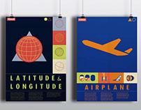 Poster Design: Latitude & Longitude, Airplane