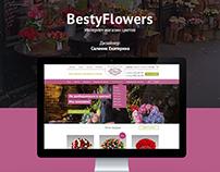Flower shop. BestyFlowers. Интернет-магазин цветов.