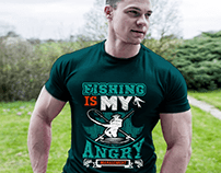 fishing t-shirt design.