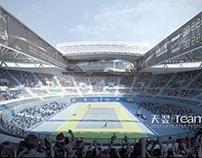 Stadium project - 3D render samples