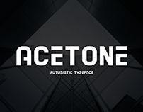 Acetone - Futuristic Typeface