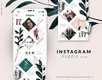Instagram PUZZLE template -Botanical