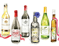Editorial illustration for Wine Enthusiast Magazine