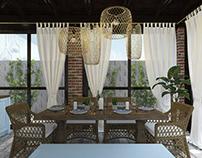 Hampton style - Winter garden