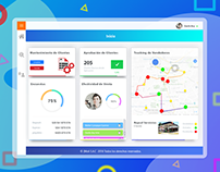 Dashboard and UI design for a web app .