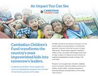 Cambodian Children's Fund Impact Sheet